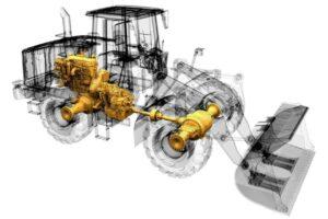 Wheel-Loader-Powertrain-X-Ray